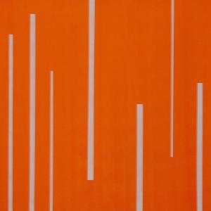 Orange space, 100 x 100 cm